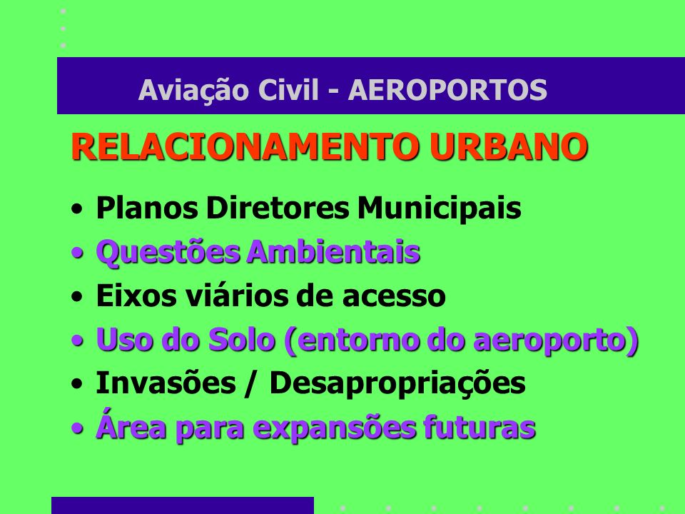 Aviação Civil - AEROPORTOS