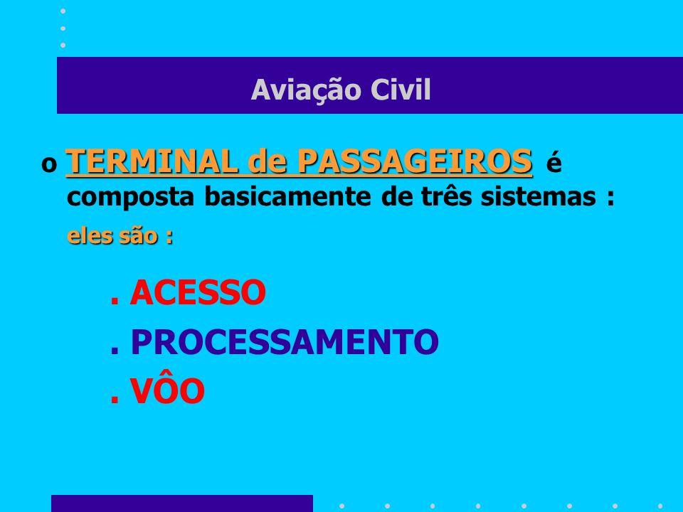 . PROCESSAMENTO . VÔO Aviação Civil