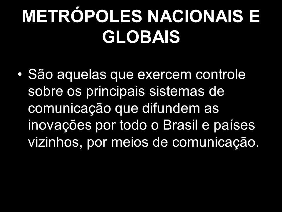 METRÓPOLES NACIONAIS E GLOBAIS