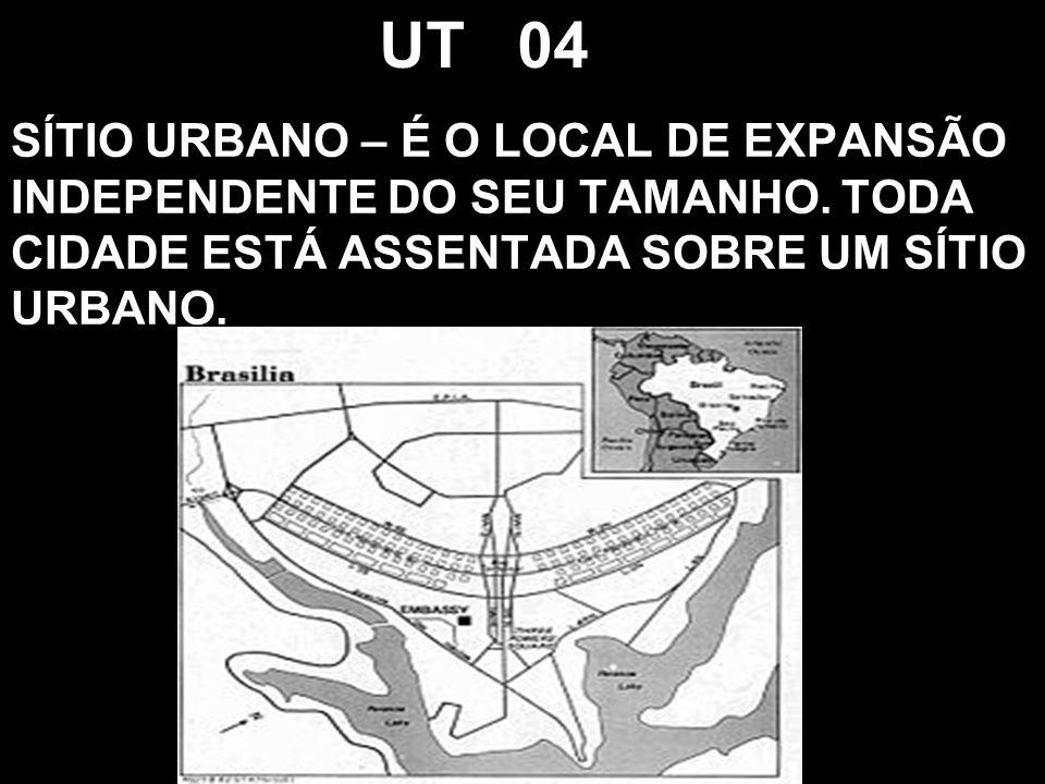 UT 04 SÍTIO URBANO – É O LOCAL DE EXPANSÃO INDEPENDENTE DO SEU TAMANHO.