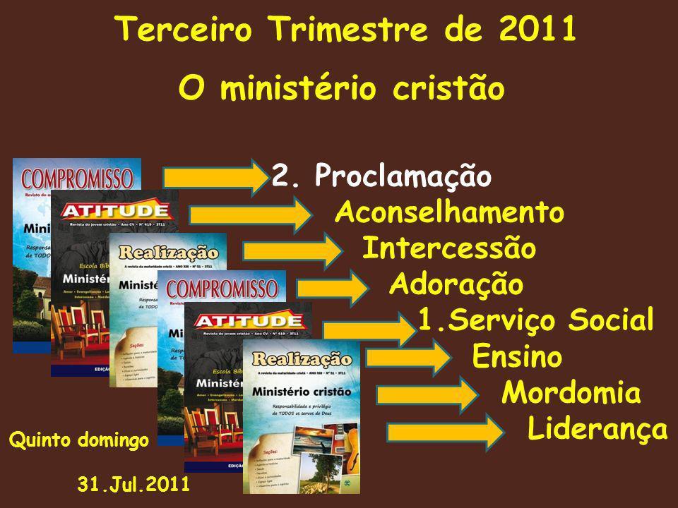 O ministério cristão 2. Proclamação Aconselhamento Intercessão