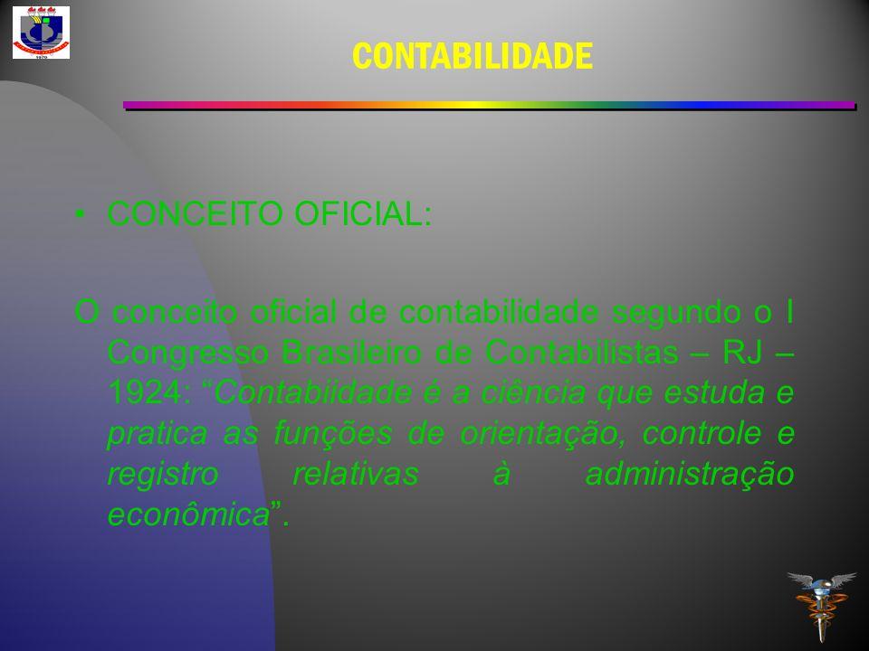 CONTABILIDADE CONCEITO OFICIAL: