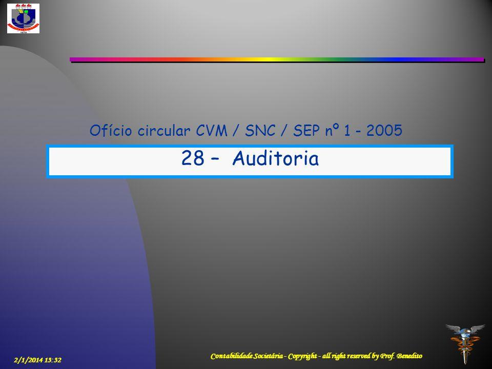 Ofício circular CVM / SNC / SEP nº 1 - 2005