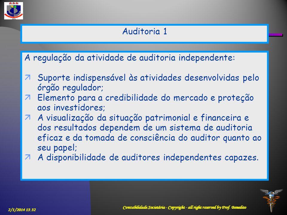 A regulação da atividade de auditoria independente: