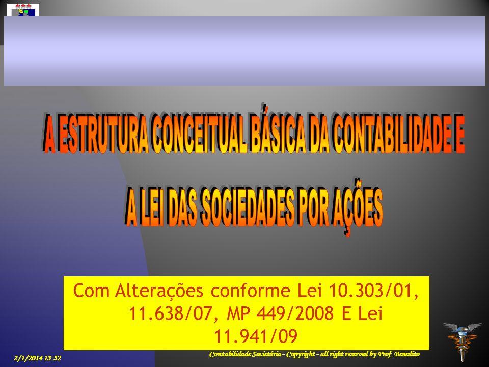 A ESTRUTURA CONCEITUAL BÁSICA DA CONTABILIDADE E