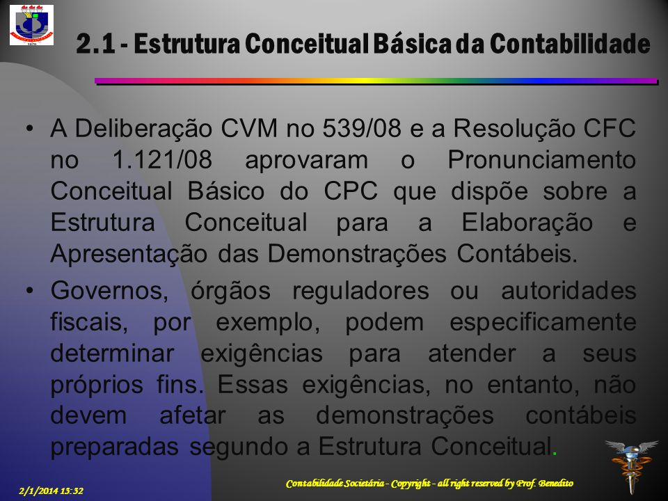 2.1 - Estrutura Conceitual Básica da Contabilidade