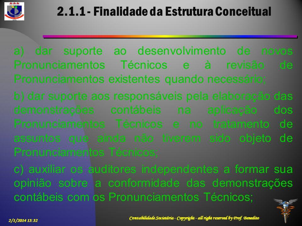 2.1.1 - Finalidade da Estrutura Conceitual