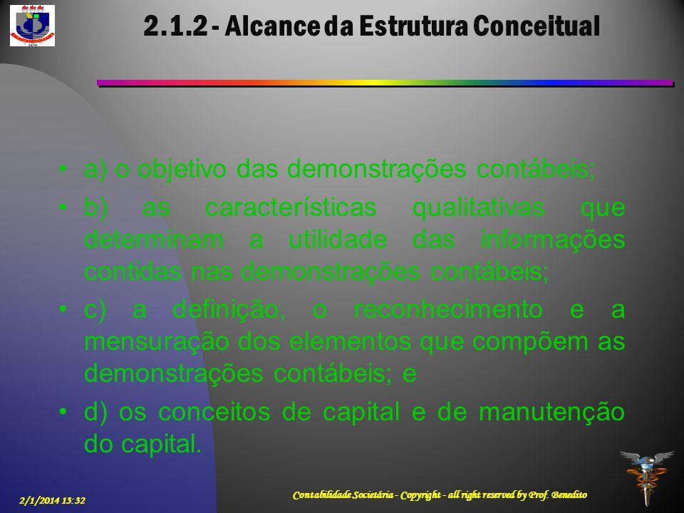 2.1.2 - Alcance da Estrutura Conceitual