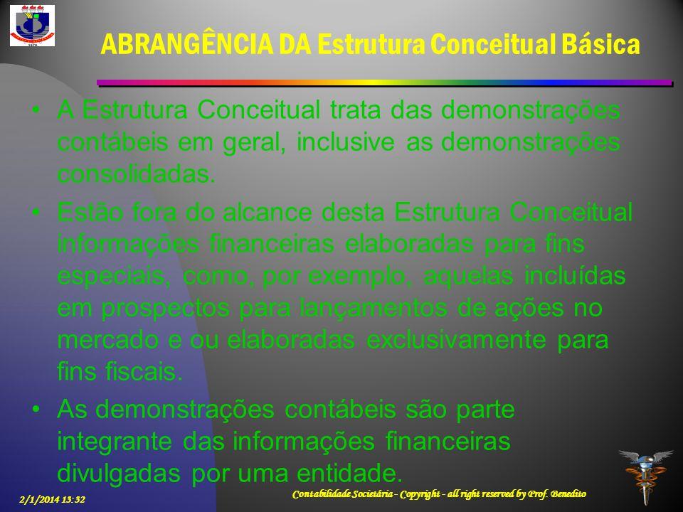 ABRANGÊNCIA DA Estrutura Conceitual Básica