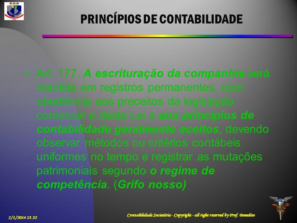 PRINCÍPIOS DE CONTABILIDADE
