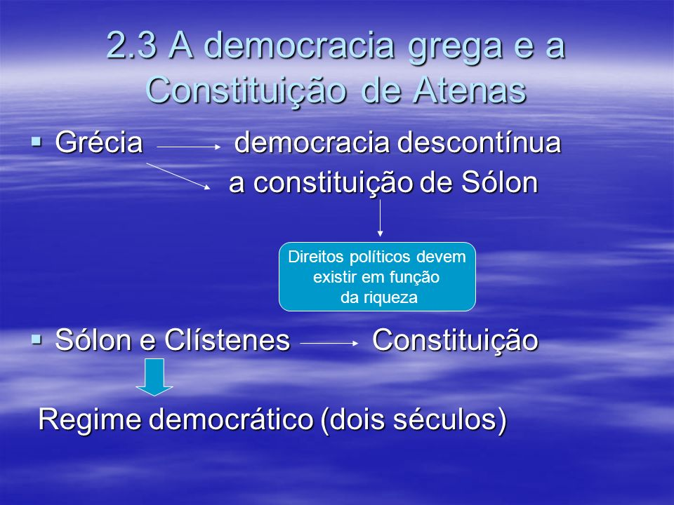 2.3 A democracia grega e a Constituição de Atenas