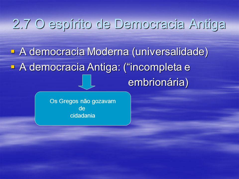 2.7 O espírito de Democracia Antiga