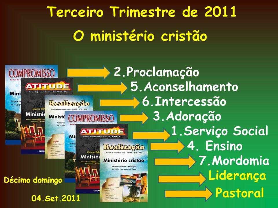 O ministério cristão 2.Proclamação 5.Aconselhamento 6.Intercessão