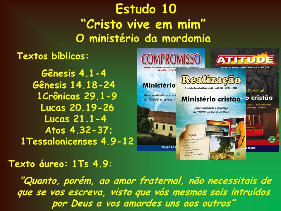 O ministério da mordomia