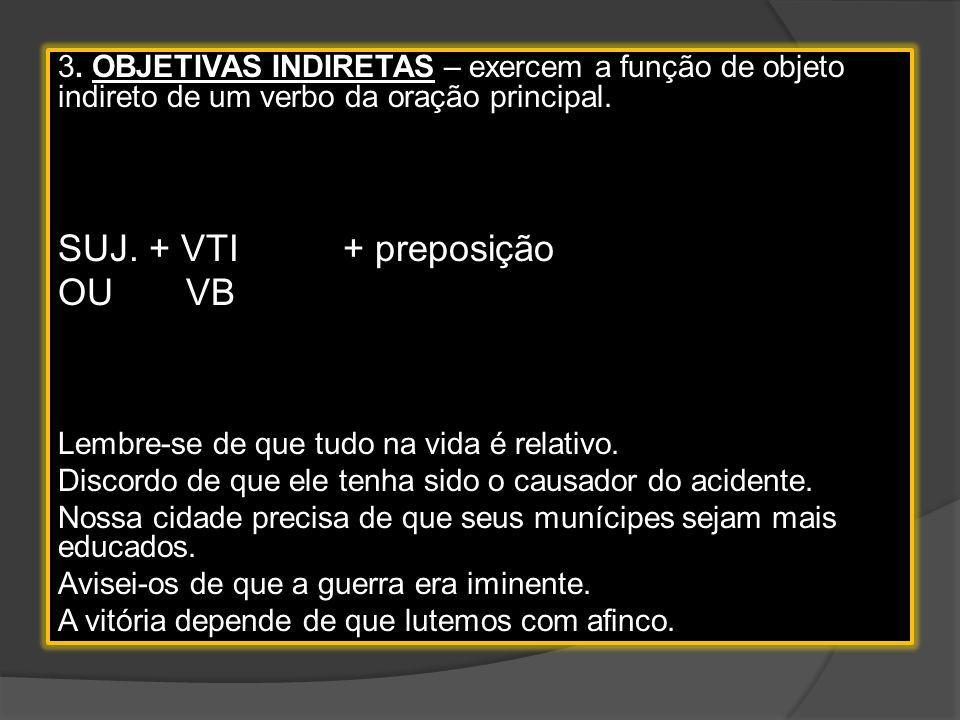 SUJ. + VTI + preposição OU VB
