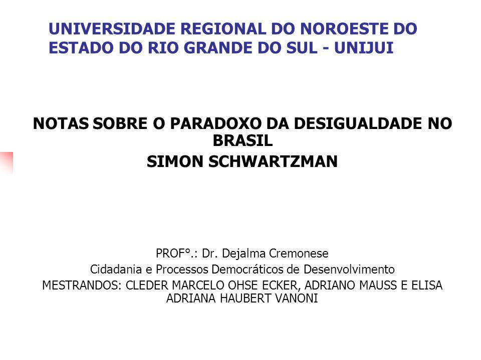 NOTAS SOBRE O PARADOXO DA DESIGUALDADE NO BRASIL
