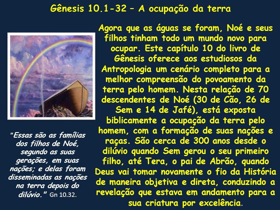 Gênesis 10.1-32 – A ocupação da terra