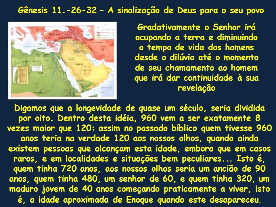 Gênesis 11.-26-32 – A sinalização de Deus para o seu povo