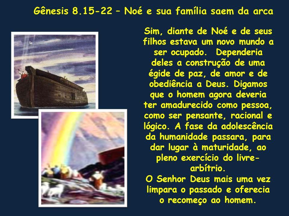 Gênesis 8.15-22 – Noé e sua família saem da arca