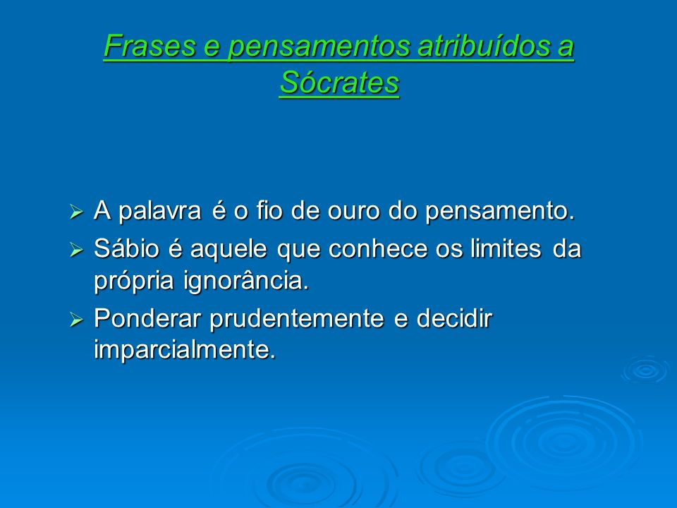 Frases e pensamentos atribuídos a Sócrates