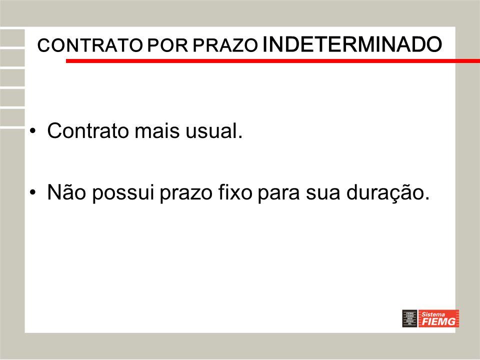 CONTRATO POR PRAZO INDETERMINADO