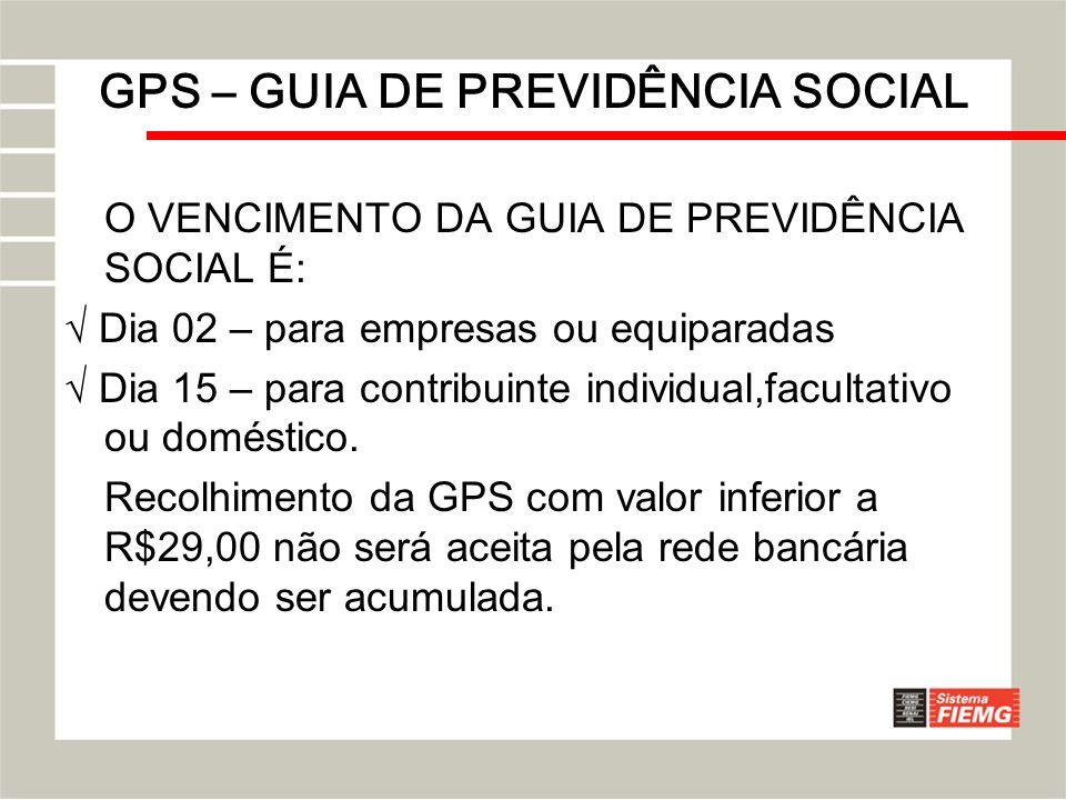 GPS – GUIA DE PREVIDÊNCIA SOCIAL