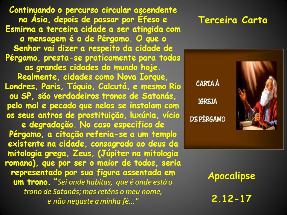 Terceira Carta Apocalipse 2.12-17