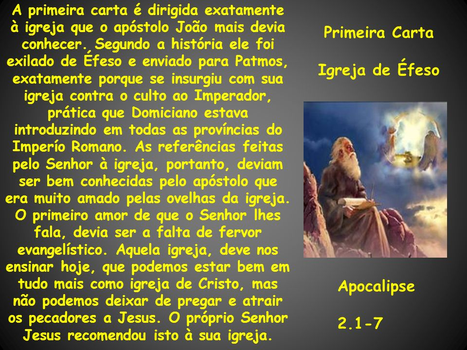 Primeira Carta Igreja de Éfeso
