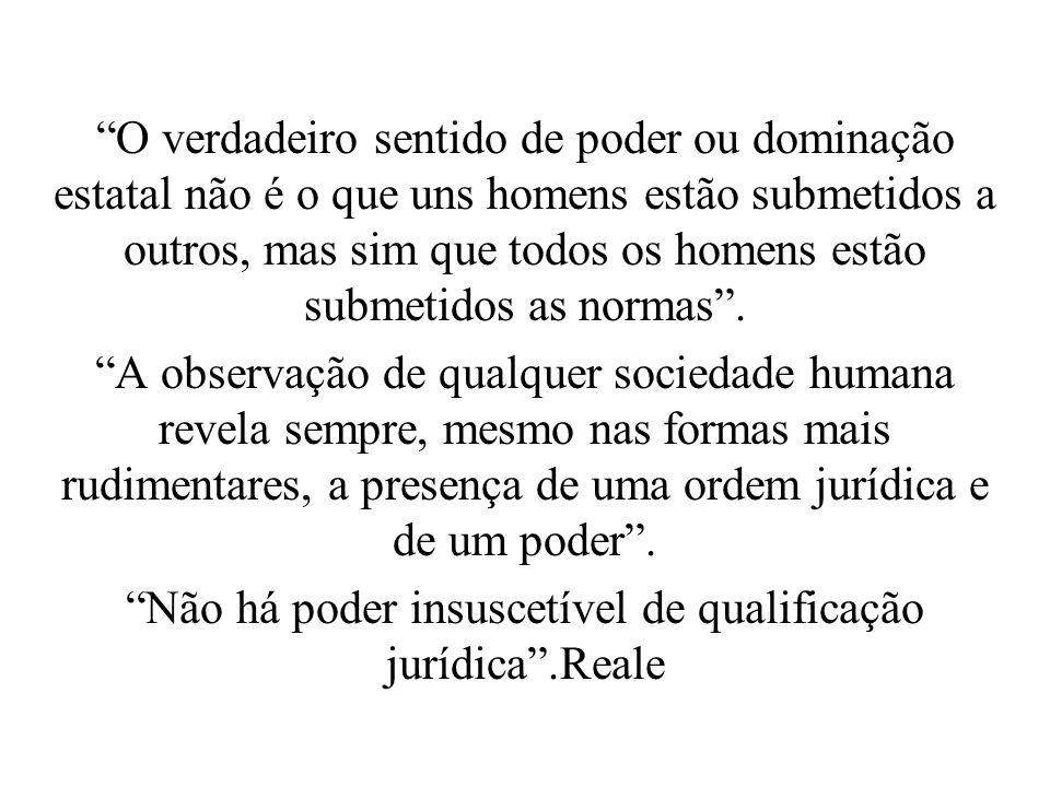 Não há poder insuscetível de qualificação jurídica .Reale