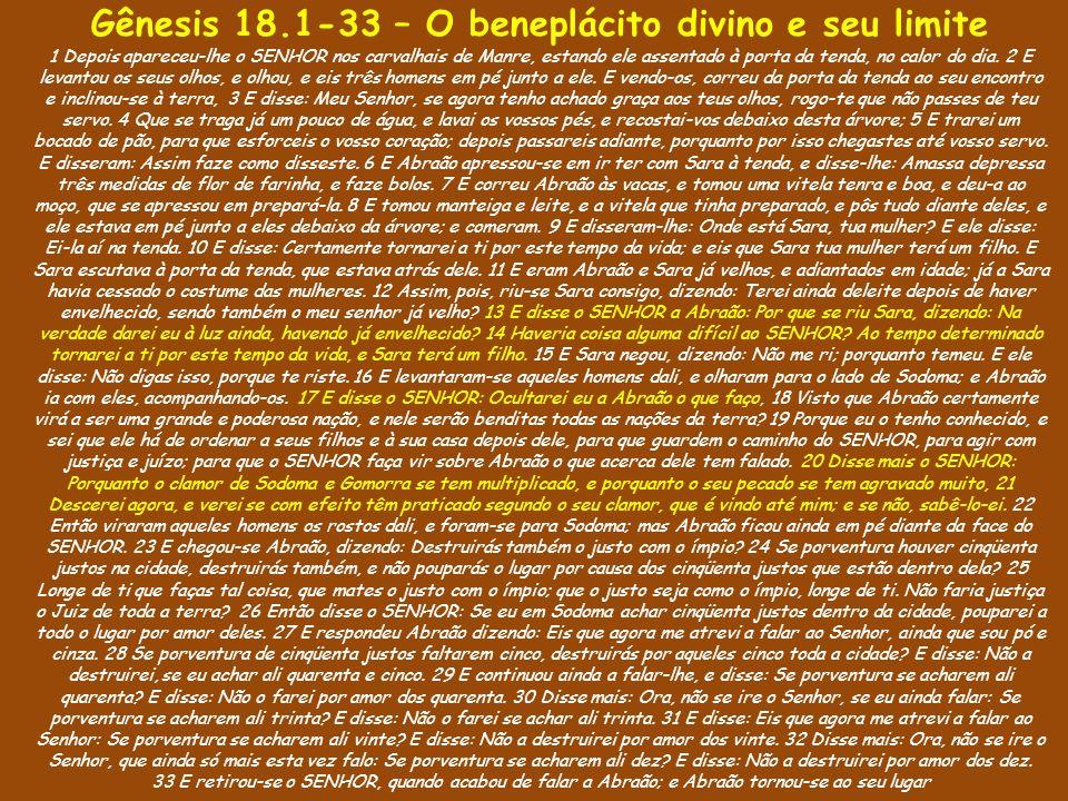 Gênesis 18.1-33 – O beneplácito divino e seu limite