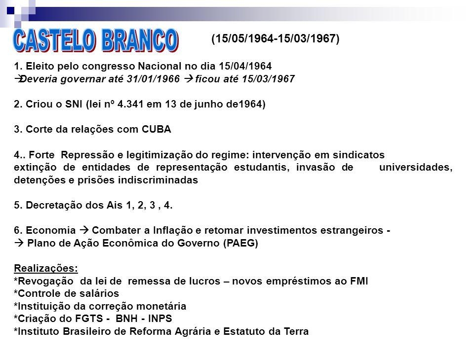 CASTELO BRANCO (15/05/1964-15/03/1967)