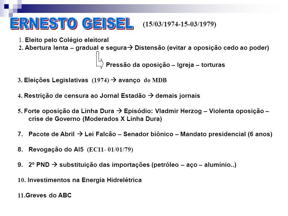 ERNESTO GEISEL (15/03/1974-15-03/1979)