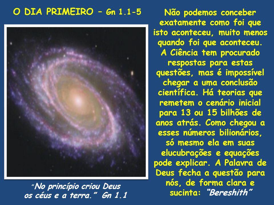 No princípio criou Deus