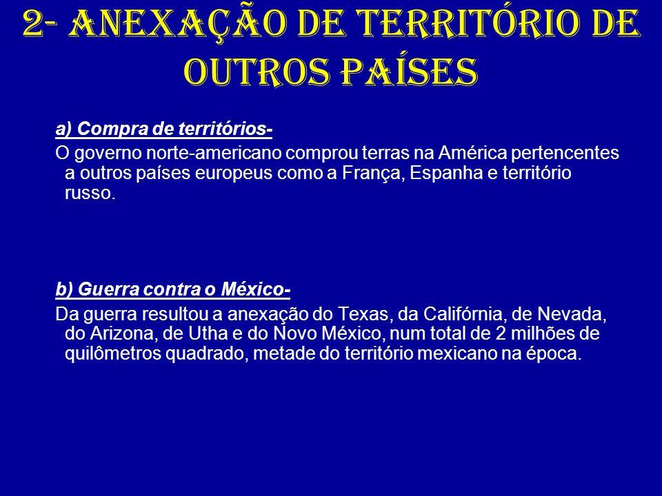 2- Anexação de território de outros países