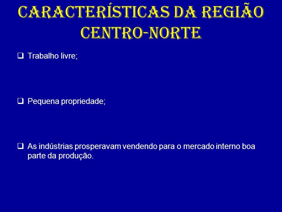 CARACTERÍSTICAS DA REGIÃO CENTRO-NORTE