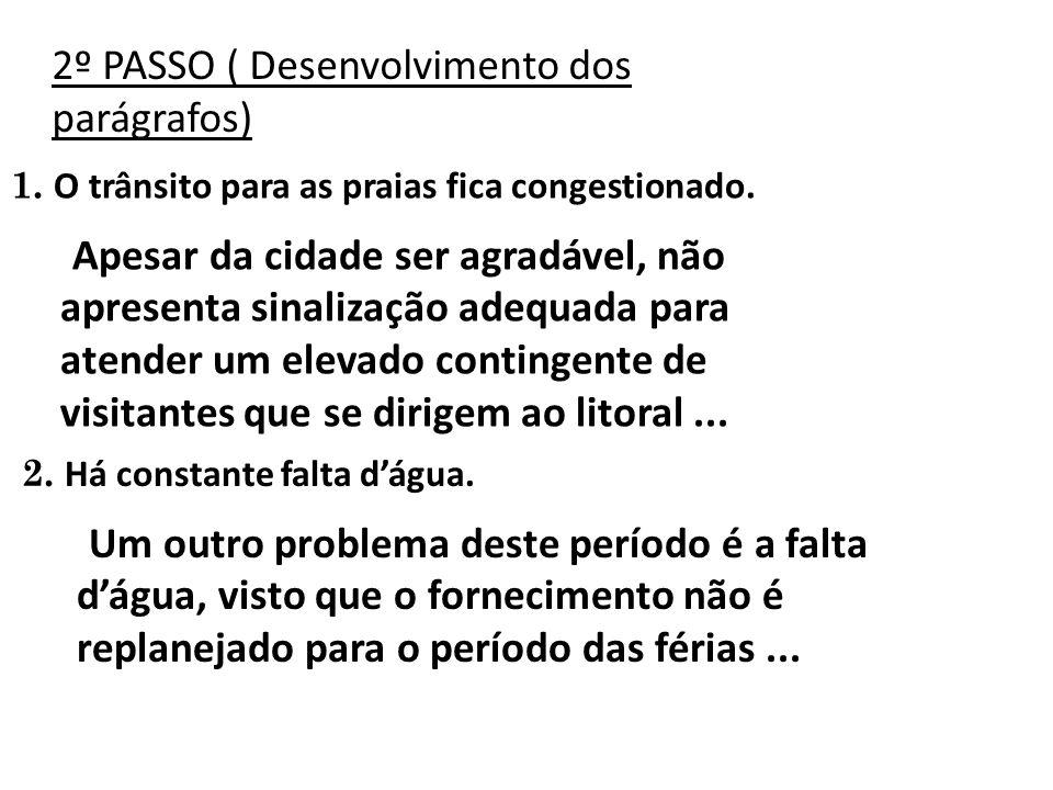 2º PASSO ( Desenvolvimento dos parágrafos)