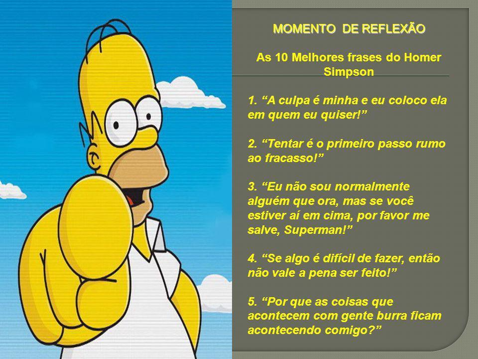 As 10 Melhores frases do Homer Simpson