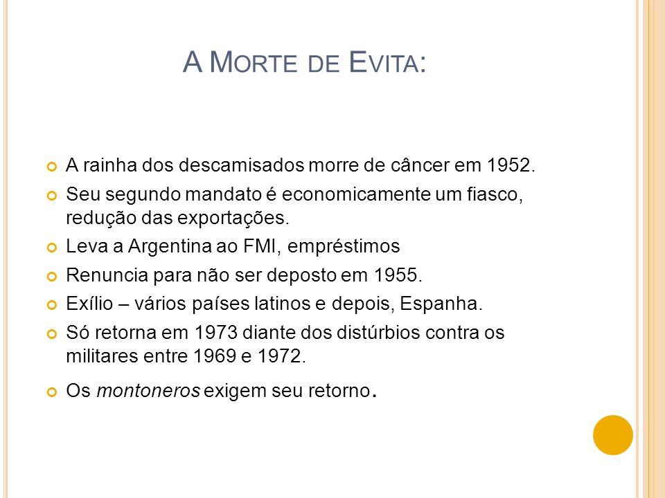 A Morte de Evita: A rainha dos descamisados morre de câncer em 1952.
