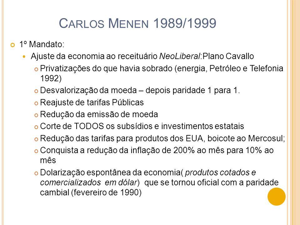 Carlos Menen 1989/1999 1º Mandato:
