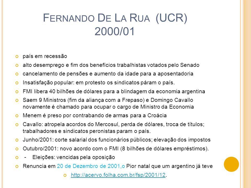 Fernando De La Rua (UCR) 2000/01