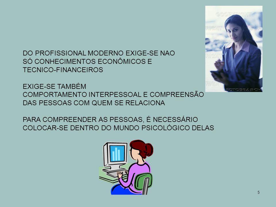 DO PROFISSIONAL MODERNO EXIGE-SE NAO