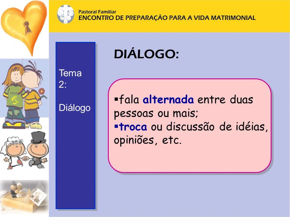 DIÁLOGO: fala alternada entre duas pessoas ou mais;