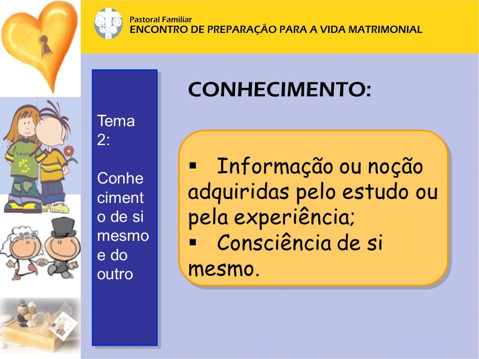 Informação ou noção adquiridas pelo estudo ou pela experiência;