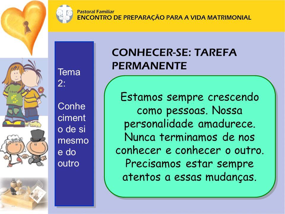 CONHECER-SE: TAREFA PERMANENTE