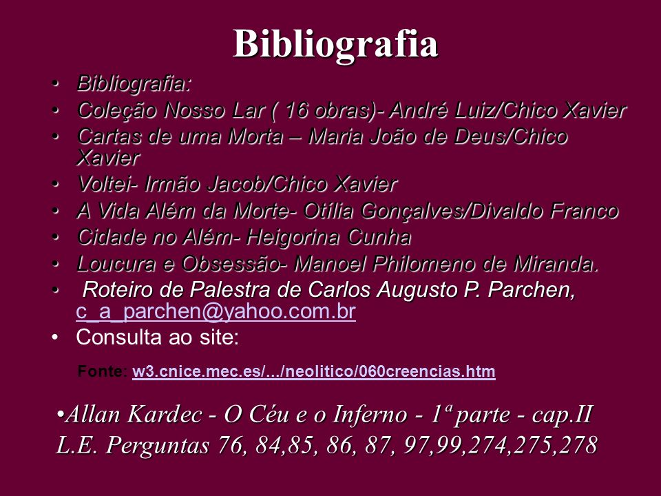 Bibliografia Allan Kardec - O Céu e o Inferno - 1ª parte - cap.II