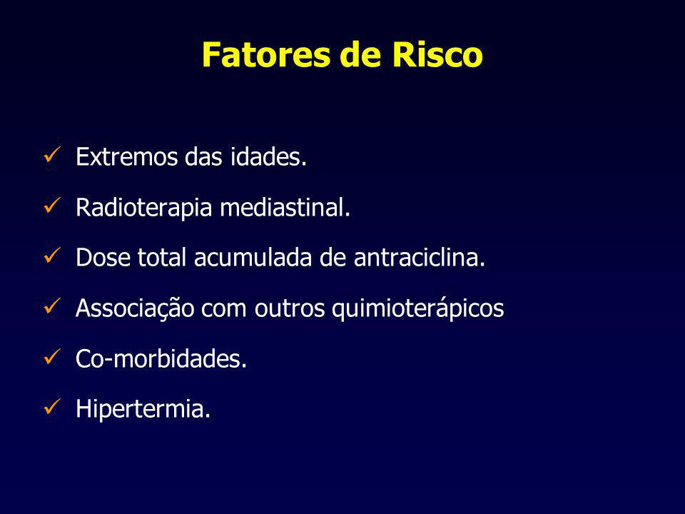 Fatores de Risco Extremos das idades. Radioterapia mediastinal.
