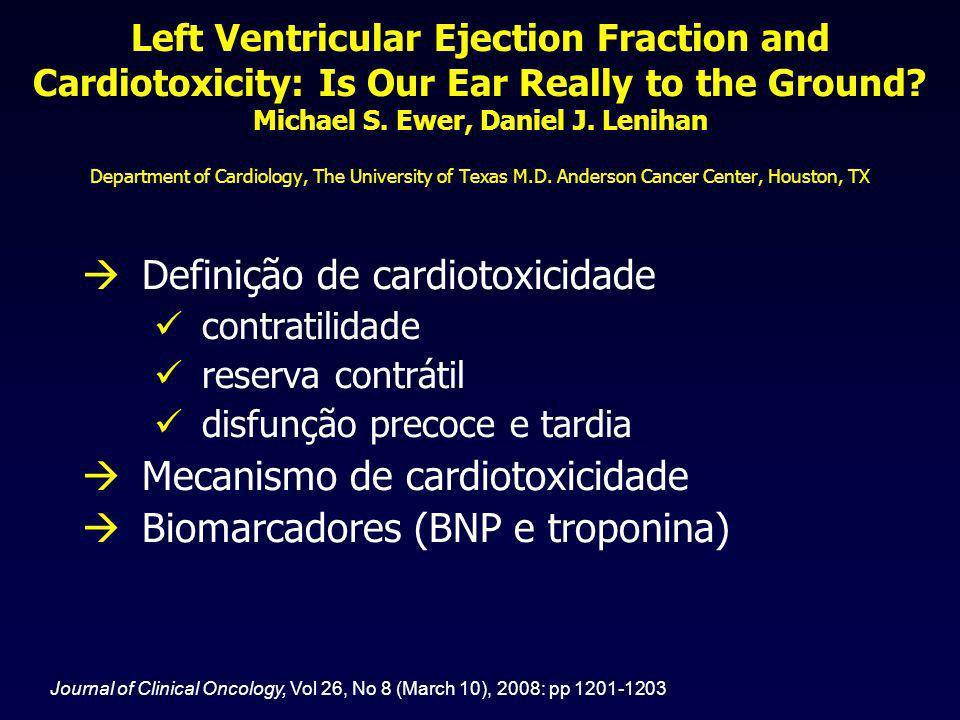 Definição de cardiotoxicidade