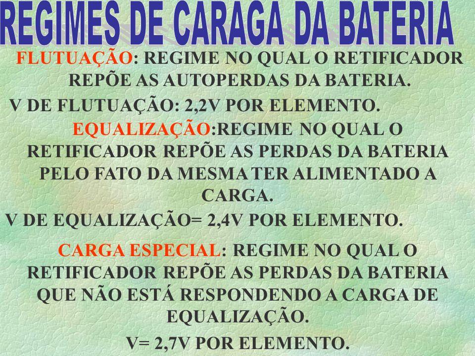 REGIMES DE CARAGA DA BATERIA