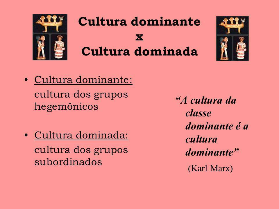 Cultura dominante x Cultura dominada