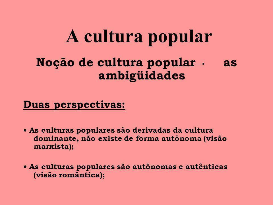 Noção de cultura popular as ambigüidades